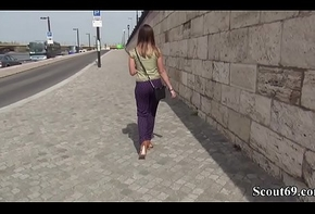 German Scout - S&uuml_&szlig_e Frida Sante beim Casting Anal gefickt