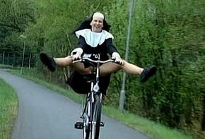 Nun upstairs bike