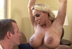 Outstanding boob Holly Halston gets creampied