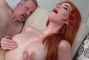 Juvenile redhead ass round grandpas load of shit plus cum