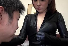 Subtitled Japanese AV star Ai Mizushima vigorous company admire