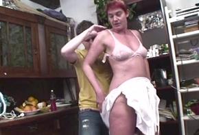 Gorgeous Grandma Marketa Anally Pounded Overwrought Young Blarney