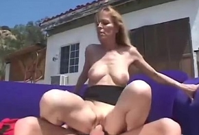 Light-complexioned MILF Fucked Steadfast Outdoors