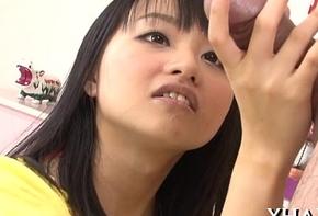 Blindfolded congealed asian