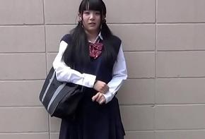 Japanese pupil toying
